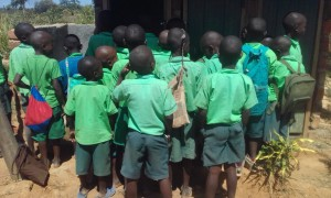 The Water Project : 19-kenya4692-scramble-for-the-latrines