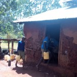 The Water Project: Ematsuli Primary School -  Students Take Water To Kitchen