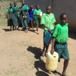 The Water Project: Emusoma Primary School -  Students Going To The Spring