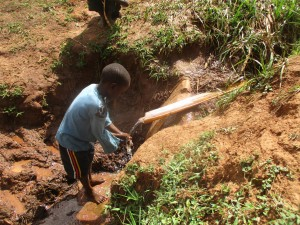 The Water Project : 2-kenya4715-child-at-the-spring