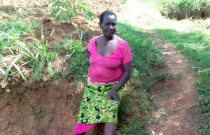 The Water Project:  Mrs Jane Igunza At The Spring