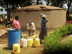 The Water Project:  Collecting Construction Water