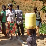 The Water Project: Mwinaya Community -  Protected Spring