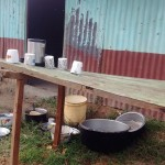 The Water Project: Eshisuru Primary School -  Dish Rack Behind Kitchen