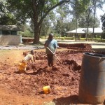 The Water Project: Bishop Sulumeti Girls Secondary School -  Preparing Bricks For Projects