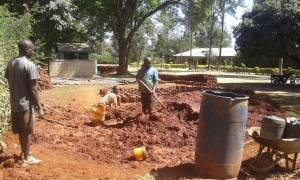 The Water Project:  Preparing Bricks For Projects