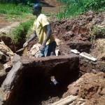 The Water Project: Bumavi Community, Shoso Mwoga Spring -  Construction