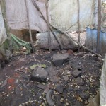 The Water Project: Benke Community, Brima Lane -  Inside Bathing Shelter