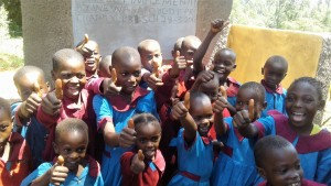 The Water Project : 23-kenya4649-finished-latrines