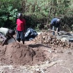 The Water Project: Emarembwa Community -  Mixing Concrete