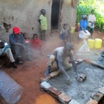 The Water Project: Kidinye Community A -  Sanitation Platform