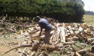 The Water Project:  Splitting Wood