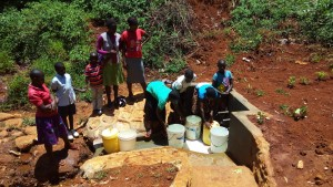 The Water Project : 25-kenya4708-protected-spring