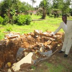 The Water Project: Kulufai Rashideen Secondary School -  Collapsed Latrine