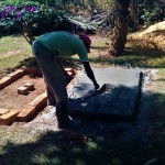 The Water Project: Bumavi Community -  Sanitation Platform Construction