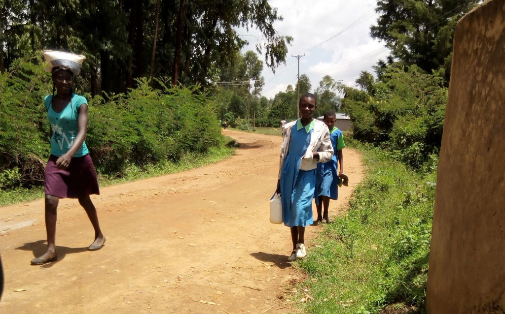 The Water Project : 3-kenya4675-girl-carries-water-to-school