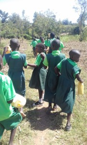 The Water Project:  Students Going To The Stream