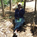 The Water Project: Emarembwa Community -  Elderly Woman Attending Training