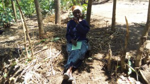 The Water Project:  Elderly Woman Attending Training