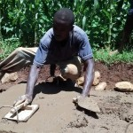 The Water Project: Eluhobe Community -  Sanitation Platform Construction