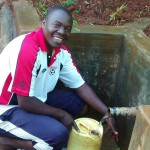 The Water Project: Eluhobe Community -  Makutwa Dickson Fetches Clean Water