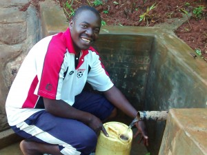 The Water Project:  Makutwa Dickson Fetches Clean Water