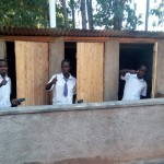 The Water Project: Bumira Secondary School -  Finished Latrines