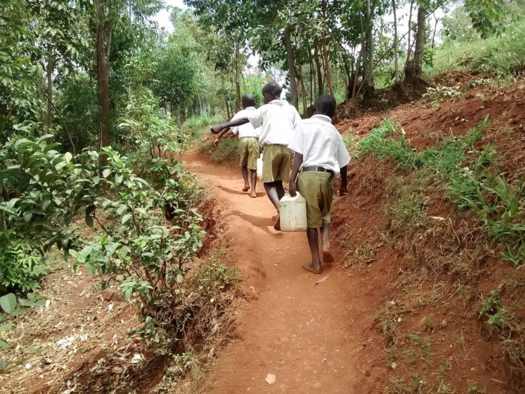 The Water Project : 4-kenya4676-students-carry-water-to-school
