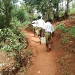The Water Project: Esibuye Primary School -  Students Carry Water To School