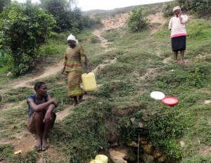 The Water Project:  Women Waiting To Fetch Water