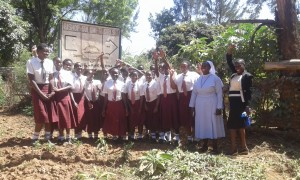 The Water Project:  Students And Principal Posing For A Picture
