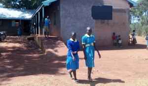 The Water Project:  Class Girls Walk Outside