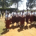 The Water Project: Bishop Sulumeti Girls Secondary School -  Students Walking Out Gate