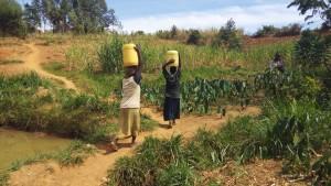 The Water Project : 6-kenya4729-women-carrying-water