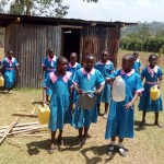 The Water Project: Maganyi Primary School -  Getting Containers To Go To Stream
