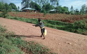 The Water Project:  Small Child Carrying Water