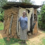The Water Project: Mulundu Community -  Mrs Fanices Latrine