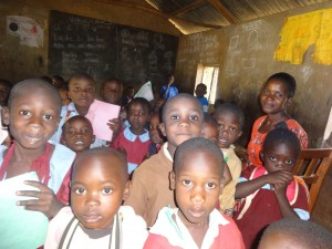 The Water Project:  Ecd Children With Their Teacher