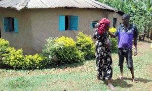 The Water Project:  Bernard Seregwa And Wife At Their Beautiful Homestead