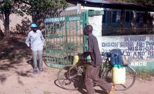 The Water Project:  Community Member Coming To Fetch Water