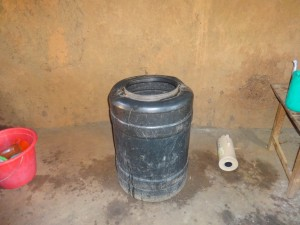 The Water Project : 9-kenya4677-water-storage-container-in-kitchen