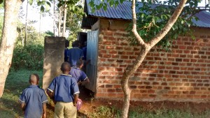 The Water Project:  Boys Wait For Latrines