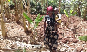 The Water Project:  Mrs Seregwa And Her Son