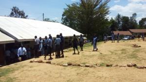 The Water Project : 9-kenya4828-taking-a-walk-outside