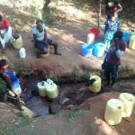 The Water Project: Wamuhila Community -  Morning Line At Isabwa Spring