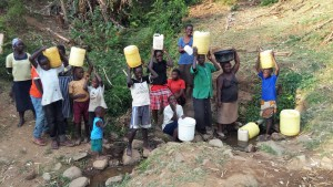 The Water Project:  Community Members With Their Jerrycans
