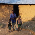 The Water Project: Mumuli Community, Shalolwa Spring -  Duncan With His Children At Home