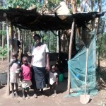 The Water Project: Isese Community -  Alice And Her Children In The Kitchen