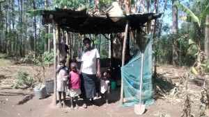 The Water Project : 10-kenya4745-alice-and-her-children-in-the-kitchen