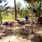 The Water Project: Shikoti Community B -  Breaking Stones For A Living